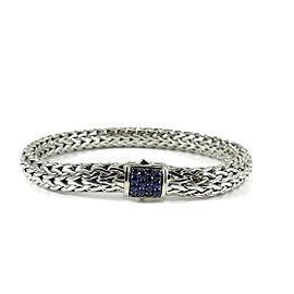 John Hardy Sterling Silver Classic Chain Lava Blue Sapphire Bracelet