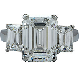 Harry Winston Platinum with 5.11ctw Diamond Engagement Ring Size 5.75