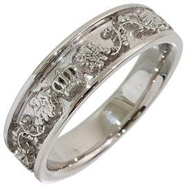 Justin Davis Design Band Ring in 18K White Gold US4.75