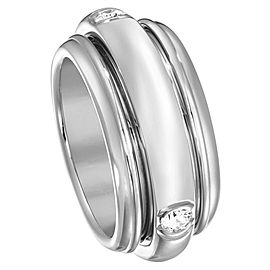 Piaget 18K White Gold Possession Diamond Ring Size 7.5
