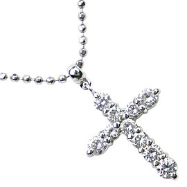 Platinum/diamond cross Necklace