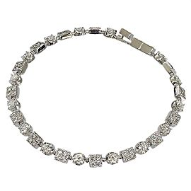 Bulgari 18K White Gold & 83P Diamonds Bracelet