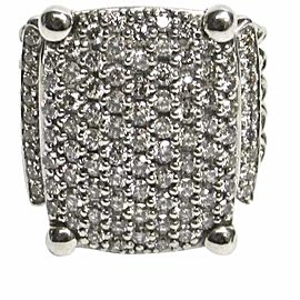 David Yurman Wheaton Sterling Silver with Diamond Five Cable Row Ring Size 5
