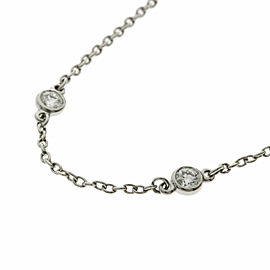 TIFFANY & Co. 6P Diamond Platinum By The Yard Bracelet