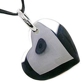 POMELLATO Silver/Cowhide DoDo Heart Pendant Necklace