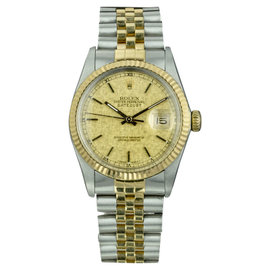 Rolex Datejust 16013 Stainless Steel and Yellow Gold 36mm Automatic Mens Watch