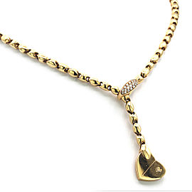 Piaget 18K Yellow Gold with Diamond Deformation Heart Motif Necklace