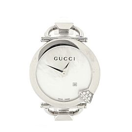 Gucci Chiodo Quartz Watch Stainless Steel with Diamonds and Mother of Pearl 35