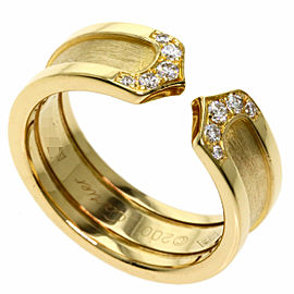 CARTIER 18K Yellow Gold C2 Diamond Ring