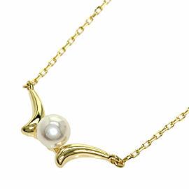 MIKIMOTO 18K Yellow Gold Akoya Pearl Pearl Necklace