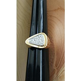 14K Yellow & White Gold Diamond Arrow Head Ring Size 9.25