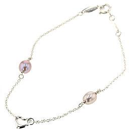 TIFFANY & Co Pearl / Silver925 Open heart bracelet TBRK-373