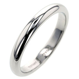 TIFFANY & Co. 950 Platinum Classic band Ring TBRK-576