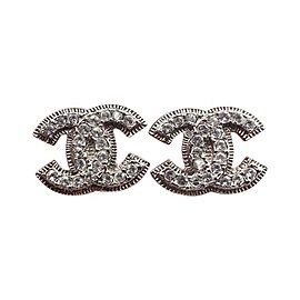 Chanel Silver-Tone Metal CC Earrings