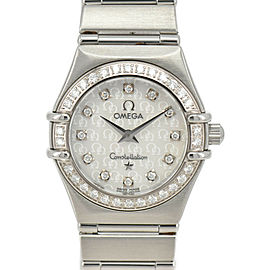 OMEGA Constellation 12P diamond Bezel White shell Dial Quartz LadiesWatch