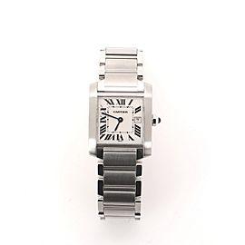 Cartier Tank Francaise Quartz Watch Stainless Steel 25