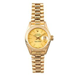 Rolex Oyster Perpetual Datejust 69178 18K Yellow Gold 26mm Automatic Women Watch