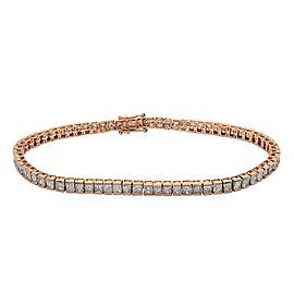 14K Rose Gold Diamond Tennis Bracelet