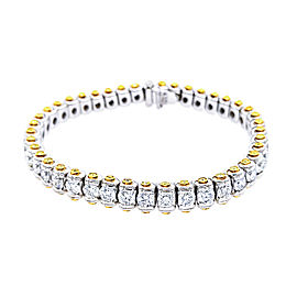 Charles Krypell Precious Pastel 15992 Platinum White & Yellow Diamonds Bracelet