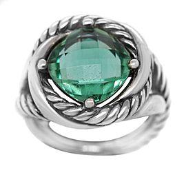 David Yurman 925 Infinity Ring With Prasiolite