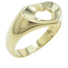 Tiffany & Co. 18K Yellow Gold Heart Ring Size 4.75