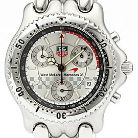 Polished TAG HEUER Sel McLaren Mercedes 1998 F1 Limited Watch CG1117