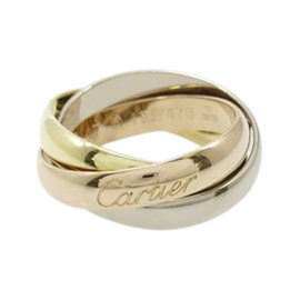 Cartier 18K Yellow White and Rose Gold Trinity Classical Ring Size 4