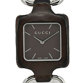 GUCCI 130.5 1921 Collection SS/Leather Quartz Women's Watch