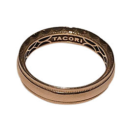 Tacori 18K Rose Gold Wedding Band Ring Size 8.5