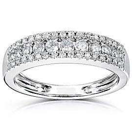 Kobelli Multirow Diamond Wedding Band 1/2ct 14K White Gold