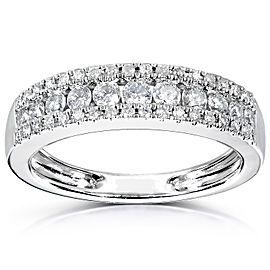 Kobelli Multirow Diamond Wedding Band 1/2ct 14K White Gold