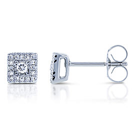 1/6ct.tw Square Cluster Diamond Earrings