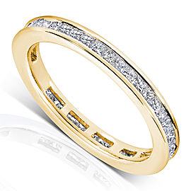 Diamond Eternity Wedding Band 1 carat (ctw) in 14K Gold - yellow-gold