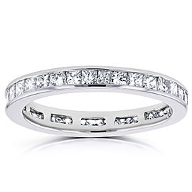 Diamond Eternity Wedding Band 1 carat (ctw) in 14K Gold - white-gold