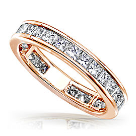 Princess Diamond Eternity Band 2 carat (ctw) in 14K Gold - rose-gold
