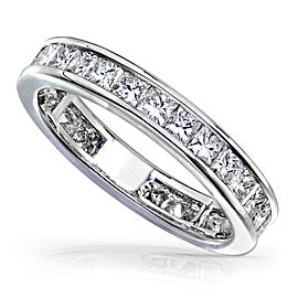 Princess Diamond Eternity Band 2 carat (ctw) in 14K Gold - white-gold