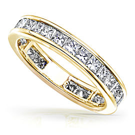 Princess Diamond Eternity Band 2 carat (ctw) in 14K Gold - yellow-gold