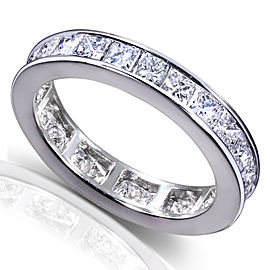 Princess Diamond Eternity Band 3 carat (ctw) in 14K Gold - white-gold