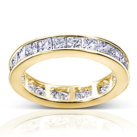 Princess Diamond Eternity Band 3 carat (ctw) in 14K Gold - yellow-gold