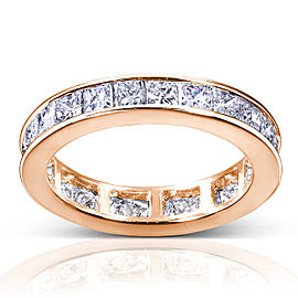 Princess Diamond Eternity Band 3 carat (ctw) in 14K Gold - rose-gold