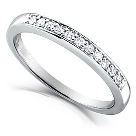 Round Diamond Band 1/10 CTW in 14k White Gold