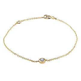 Diamond Solitaire Bracelet 1/4 CTW in 14k Yellow Gold