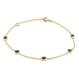 Black Diamond Bracelet 1 Carat (ctw) in 14k Gold - yellow-gold