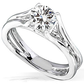 Round Diamond Solitaire Engagement Ring 1 CTW in 14k White Gold