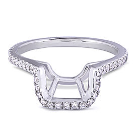 Round Diamond Shadow Band 1/5 Carat (ctw) in 14k White Gold
