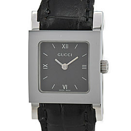 GUCCI 7900L.1 Black Dial SS/Leather Quartz Ladies Watch