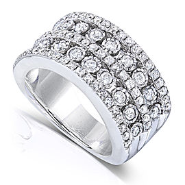 Diamond Band 1 1/2 Carat (ctw) in 10k White Gold - 4.0