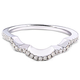 Round Diamond Contoured Wedding Band 1/6 Carat (ctw) in 14K White Gold (for MZ61835R)