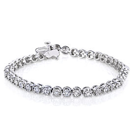 1/2ct.tw Diamond Round Tennis Bracelet
