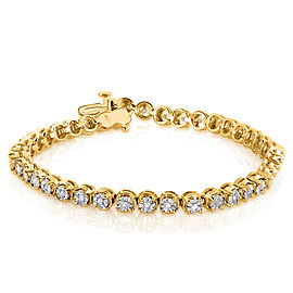 Diamond Bracelet 1/2 Carat (ctw) in Yellow Gold-Plated Silver
